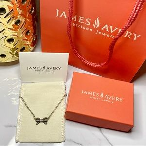 James Avery Sterling Silver Little Bow Necklace